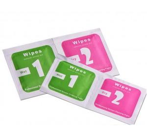 Салфетки для протирки дисплеев 2 шт (мокрая и сухая)