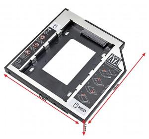 "Optibay HDD/SSD 9.5mm SATA (Шасси/переходник HDD 2.5"" в SATA отсек CD-ROM)"