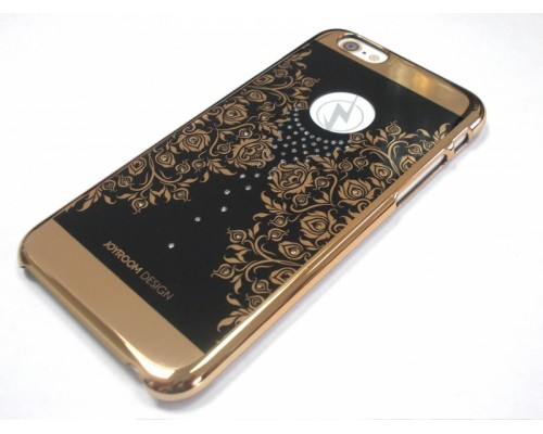 Задняя накладка iPhone 6 со стразами под баско черный