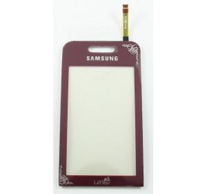 Тачскрин (сенсор, стекло) Samsung S5230 La-Fleur Красный