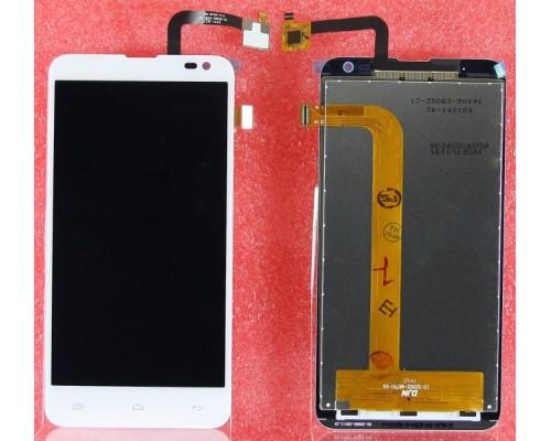 Дисплей в сборе с тачскрином (модуль) Fly IQ4514 (белый)