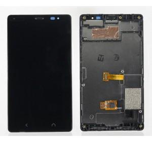 Дисплей в сборе с тачскрином (модуль) Nokia X2 Dual (RM-1013) Черный