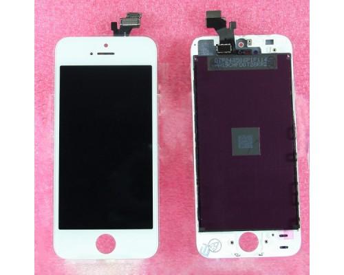 Дисплей в сборе с тачскрином (модуль) iphone 5 (белый) AA