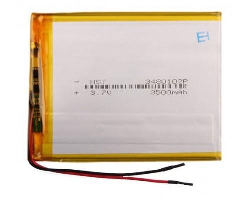 АКБ универсальная 3480102p 3,7v Li-Pol 3500 mAh (3.4*80*102 mm)