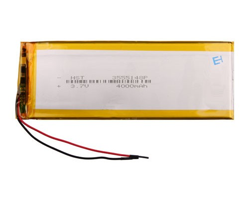 АКБ универсальная 3555148p 3,7v Li-Pol 4000 mAh (3.5*55*148 mm)