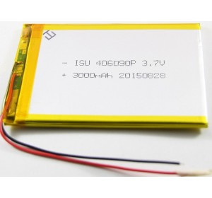 АКБ универсальная 406090p 3,7v Li-Pol 3000 mAh (4*60*90 mm)