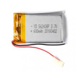 АКБ универсальная 562438p 3,7v Li-Pol 600 mAh (5.6*24*38 mm)