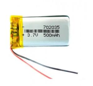 АКБ универсальная 702035p 3,7v Li-Pol 500 mAh (7*20*35 mm)