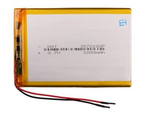 АКБ универсальная 3570100p 3,7v Li-Pol 3200 mAh (3.5*70*100 mm)