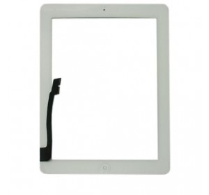 Сенсор iPad 3/4 с кнопкой Home (Белый) - AA