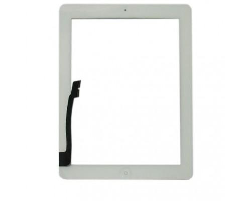 Тачскрин (сенсор, стекло) iPad 3, iPad 4 (Белый) - AA